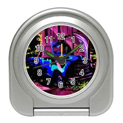 Abstract Artwork Of A Old Truck Travel Alarm Clocks