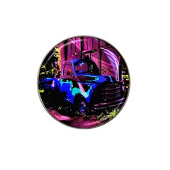 Abstract Artwork Of A Old Truck Hat Clip Ball Marker (4 Pack)