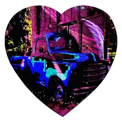 Abstract Artwork Of A Old Truck Jigsaw Puzzle (Heart)