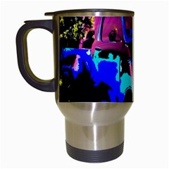 Abstract Artwork Of A Old Truck Travel Mugs (white)