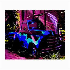 Abstract Artwork Of A Old Truck Small Glasses Cloth