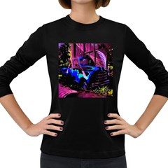 Abstract Artwork Of A Old Truck Women s Long Sleeve Dark T-Shirts