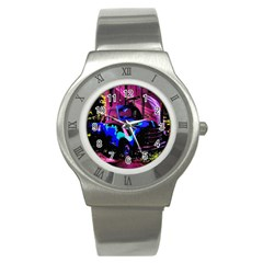Abstract Artwork Of A Old Truck Stainless Steel Watch
