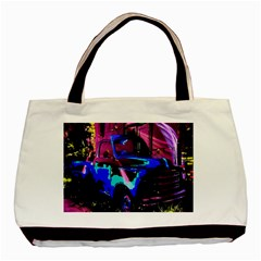 Abstract Artwork Of A Old Truck Basic Tote Bag