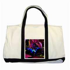 Abstract Artwork Of A Old Truck Two Tone Tote Bag