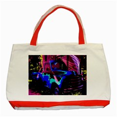 Abstract Artwork Of A Old Truck Classic Tote Bag (Red)