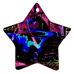 Abstract Artwork Of A Old Truck Star Ornament (Two Sides)