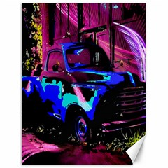 Abstract Artwork Of A Old Truck Canvas 12  x 16