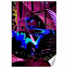 Abstract Artwork Of A Old Truck Canvas 12  x 18