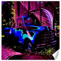 Abstract Artwork Of A Old Truck Canvas 16  X 16