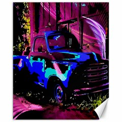 Abstract Artwork Of A Old Truck Canvas 16  x 20