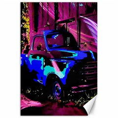 Abstract Artwork Of A Old Truck Canvas 20  x 30