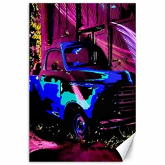 Abstract Artwork Of A Old Truck Canvas 24  x 36