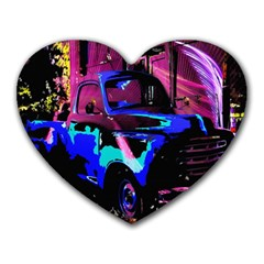 Abstract Artwork Of A Old Truck Heart Mousepads