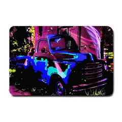 Abstract Artwork Of A Old Truck Small Doormat