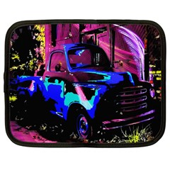 Abstract Artwork Of A Old Truck Netbook Case (large)