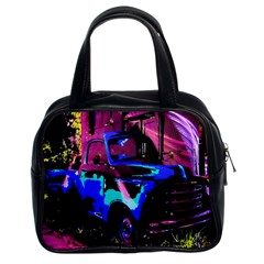 Abstract Artwork Of A Old Truck Classic Handbags (2 Sides)