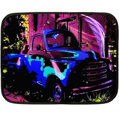 Abstract Artwork Of A Old Truck Double Sided Fleece Blanket (mini)