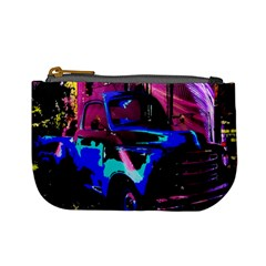 Abstract Artwork Of A Old Truck Mini Coin Purses