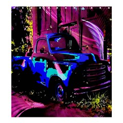 Abstract Artwork Of A Old Truck Shower Curtain 66  x 72  (Large)