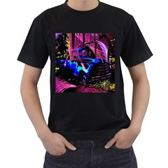 Abstract Artwork Of A Old Truck Men s T-Shirt (Black)