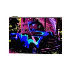 Abstract Artwork Of A Old Truck Cosmetic Bag (Large)