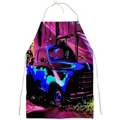 Abstract Artwork Of A Old Truck Full Print Aprons