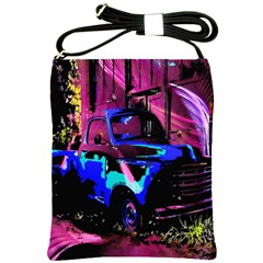 Abstract Artwork Of A Old Truck Shoulder Sling Bags