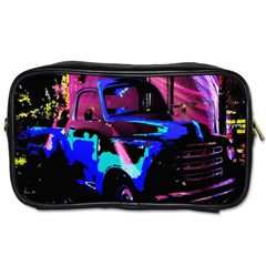 Abstract Artwork Of A Old Truck Toiletries Bags