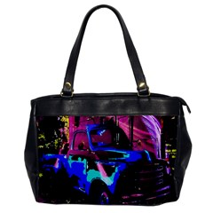 Abstract Artwork Of A Old Truck Office Handbags