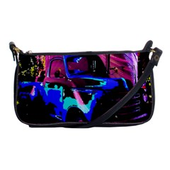 Abstract Artwork Of A Old Truck Shoulder Clutch Bags