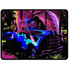 Abstract Artwork Of A Old Truck Fleece Blanket (Large)