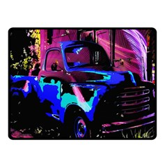 Abstract Artwork Of A Old Truck Fleece Blanket (Small)