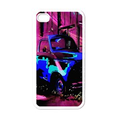 Abstract Artwork Of A Old Truck Apple iPhone 4 Case (White)