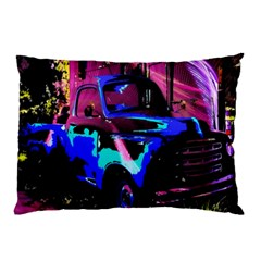 Abstract Artwork Of A Old Truck Pillow Case (two Sides)