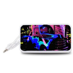 Abstract Artwork Of A Old Truck Portable Speaker (White)