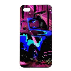 Abstract Artwork Of A Old Truck Apple Iphone 4/4s Seamless Case (black)