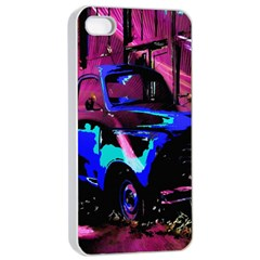 Abstract Artwork Of A Old Truck Apple iPhone 4/4s Seamless Case (White)