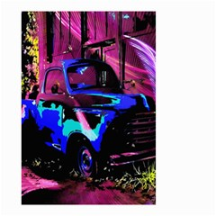 Abstract Artwork Of A Old Truck Small Garden Flag (two Sides)