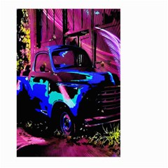 Abstract Artwork Of A Old Truck Large Garden Flag (two Sides)