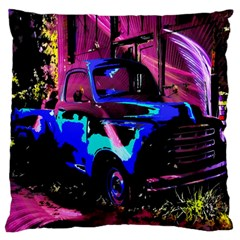 Abstract Artwork Of A Old Truck Large Cushion Case (Two Sides)