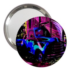Abstract Artwork Of A Old Truck 3  Handbag Mirrors