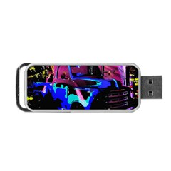 Abstract Artwork Of A Old Truck Portable USB Flash (Two Sides)