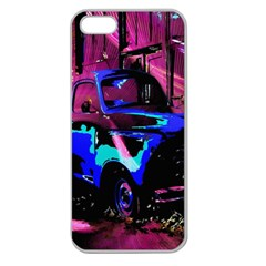 Abstract Artwork Of A Old Truck Apple Seamless Iphone 5 Case (clear)