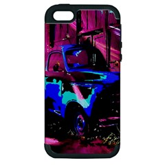 Abstract Artwork Of A Old Truck Apple Iphone 5 Hardshell Case (pc+silicone)
