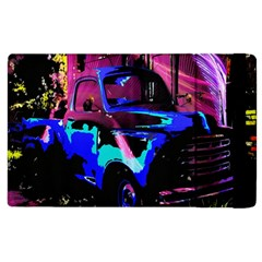 Abstract Artwork Of A Old Truck Apple Ipad 2 Flip Case