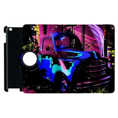 Abstract Artwork Of A Old Truck Apple Ipad 2 Flip 360 Case