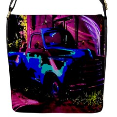 Abstract Artwork Of A Old Truck Flap Messenger Bag (S)