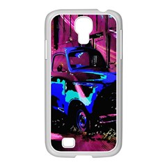 Abstract Artwork Of A Old Truck Samsung Galaxy S4 I9500/ I9505 Case (white)