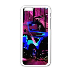 Abstract Artwork Of A Old Truck Apple iPhone 6/6S White Enamel Case